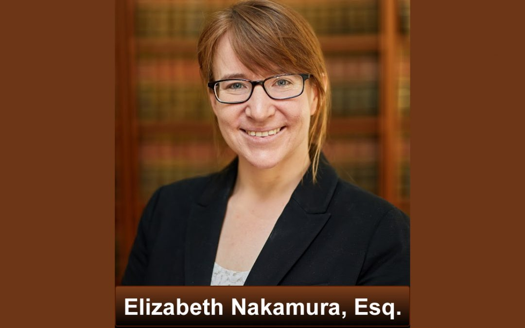 Thanks Elizabeth Nakamura, Esq. for Critical Contributions
