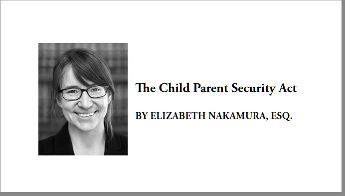 The Child Parent Security Act